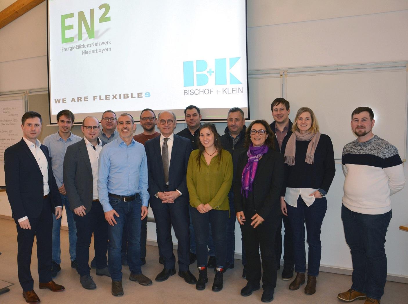 Das Energieeffizienznetzwerk Niederbayern EN² zu Besuch bei Bischof + Klein in Konzell