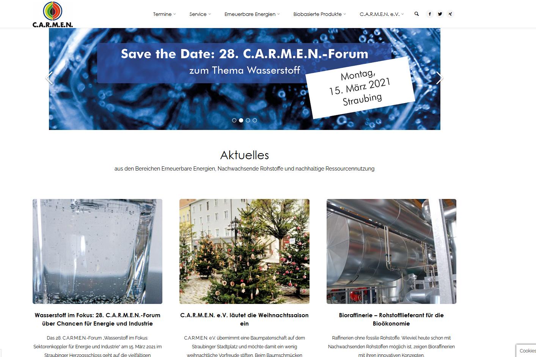 Relaunch der C.A.R.M.E.N.-Website – übersichtlich, interaktiv und dynamisch
